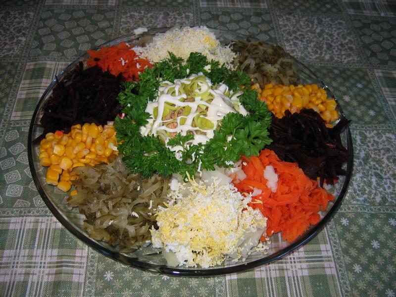 Радуга салат